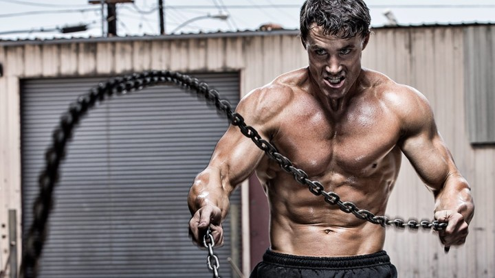 Greg Plitt with Chains